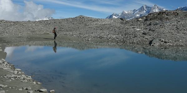 Gletscherseen auf dem Matterhorn Glacier Trail.