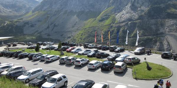 der Parkplatz an der Kölnbreinsperre