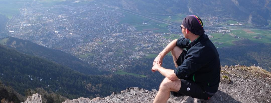Aussicht vom Fürhörnli auf die Stadt Chur