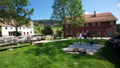 Das Geländer der Glashütte Buhlbach