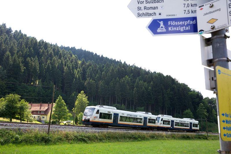 Die Ortenau-S-Bahn fährt im Stundentakt zwischen Offenburg und Freudenstadt