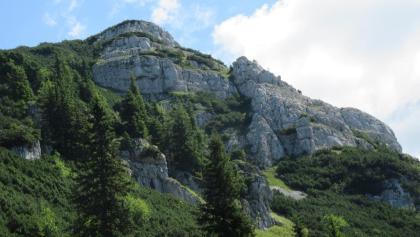 nach der ehem Jagdhütte Dürrenstein Blicke Richtung Hochfläche