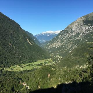 Soca valley from road to Grava