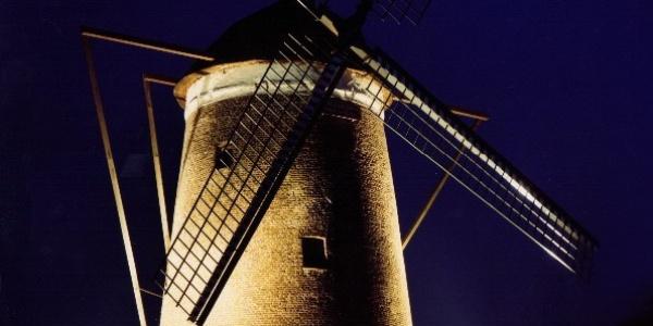 Streuff Mühle bei Nacht