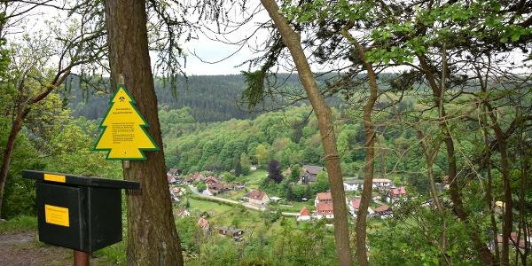 Stempelstelle Schornsteinberg mit Blick über Rübeland