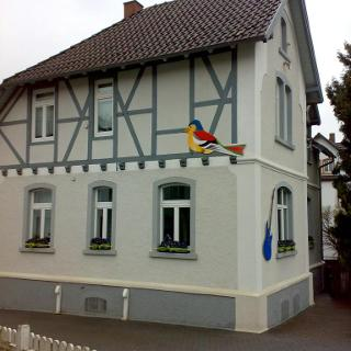Chaffinch on a house in Usingen