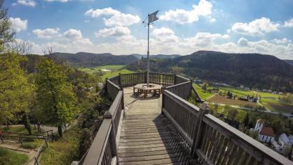Aussicht an der Burgruine Streitberg