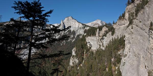 Blick zurück auf den legendären Kunkelspass