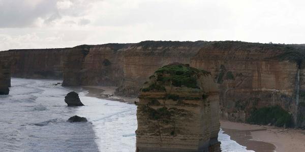 The stunning coastline of the Twelve Apostles National Park