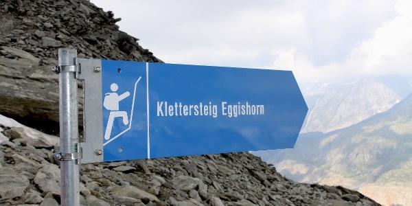 Einstieg in den Klettersteig.