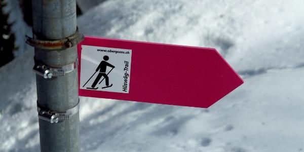 Der Huswäg-Trail ist bestens markiert.