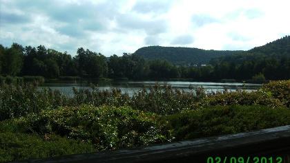 Der Silbersee (vom Biergarten des Gasthauses aufgenommen)