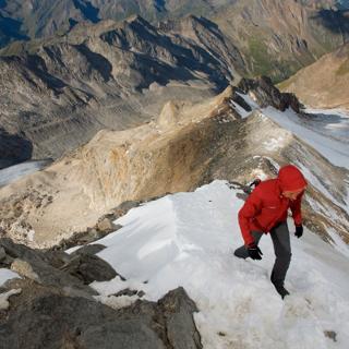 Firngrat zum Gipfelkreuz