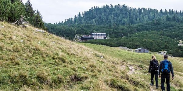 Auf dem Weg zur Neuen Traunsteiner Hütte