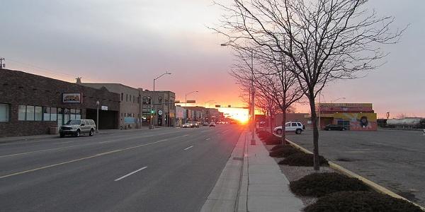 Malerischer Sonnenuntergang bei Gallup in New Mexico