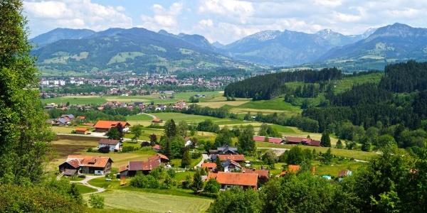 Blick auf Hüttenberg bei Ofterschwang