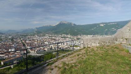 Gazing over Grenoble from the Bastille