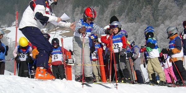 Kinderskirennen, Skilift Flensa in Seewis
