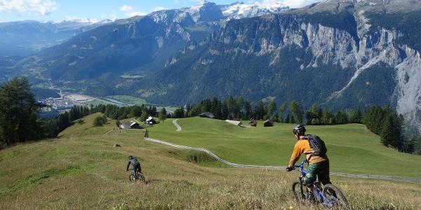 Kurz vor der Alp Juchs