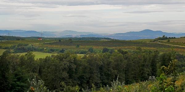 Délnyugati irányban a Budai-hegység vonulataira van innen ideiglenes kilátás