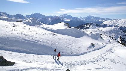 Winterwandern zwischen Moosfluh und Hohfluh.
