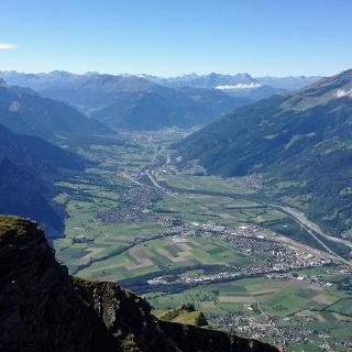 Blick von oben auf die Weinregion
