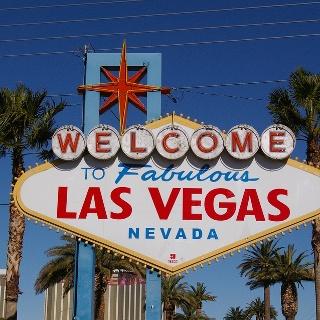 Willkommensschild am Stadtrand von Las Vegas