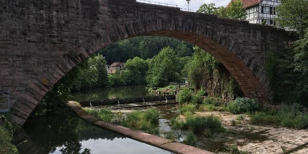 Bogenbrücke über die Nagold bei Dillweißenstein