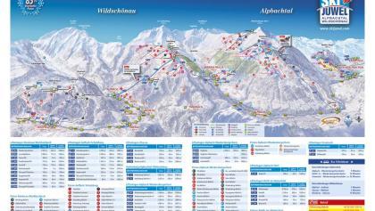 Panoramakarte Ski Juwel Alpbachtal Wildschönau