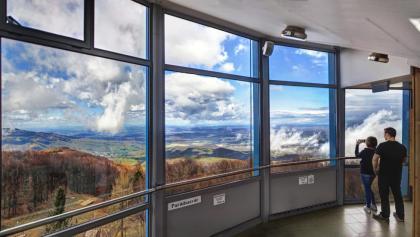 Kilátás a fedett teraszról (Kékestető)
