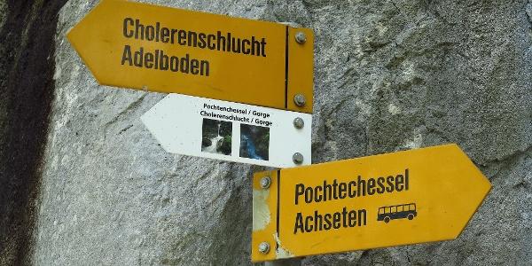 Zu Cholerenschlucht und Pochtenkessel.