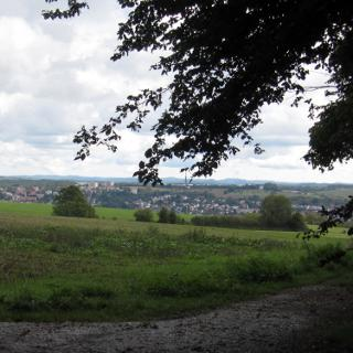 Blick Richtung Zweibrücken von der Wattweiler Höhe
