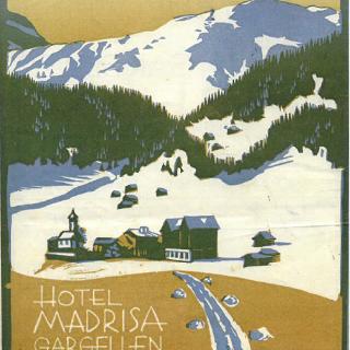 Altes Werbeplakat Hotel Madrisa