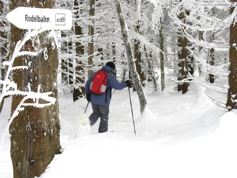 Auf Schneeschuhen wandern - kleine Tour