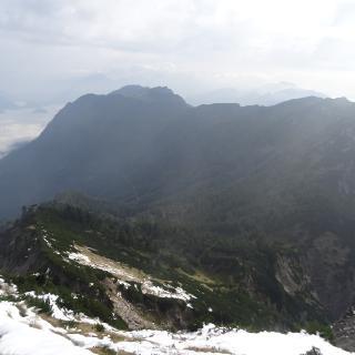 Bergwerkskogel Blick zurück zur Laufenbergalm