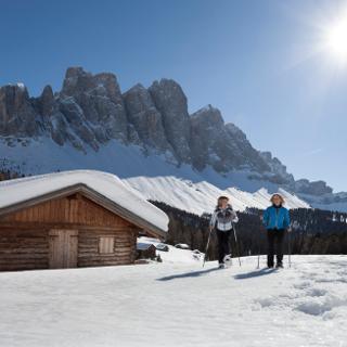 Schneeschuhwandern Gampen Alm