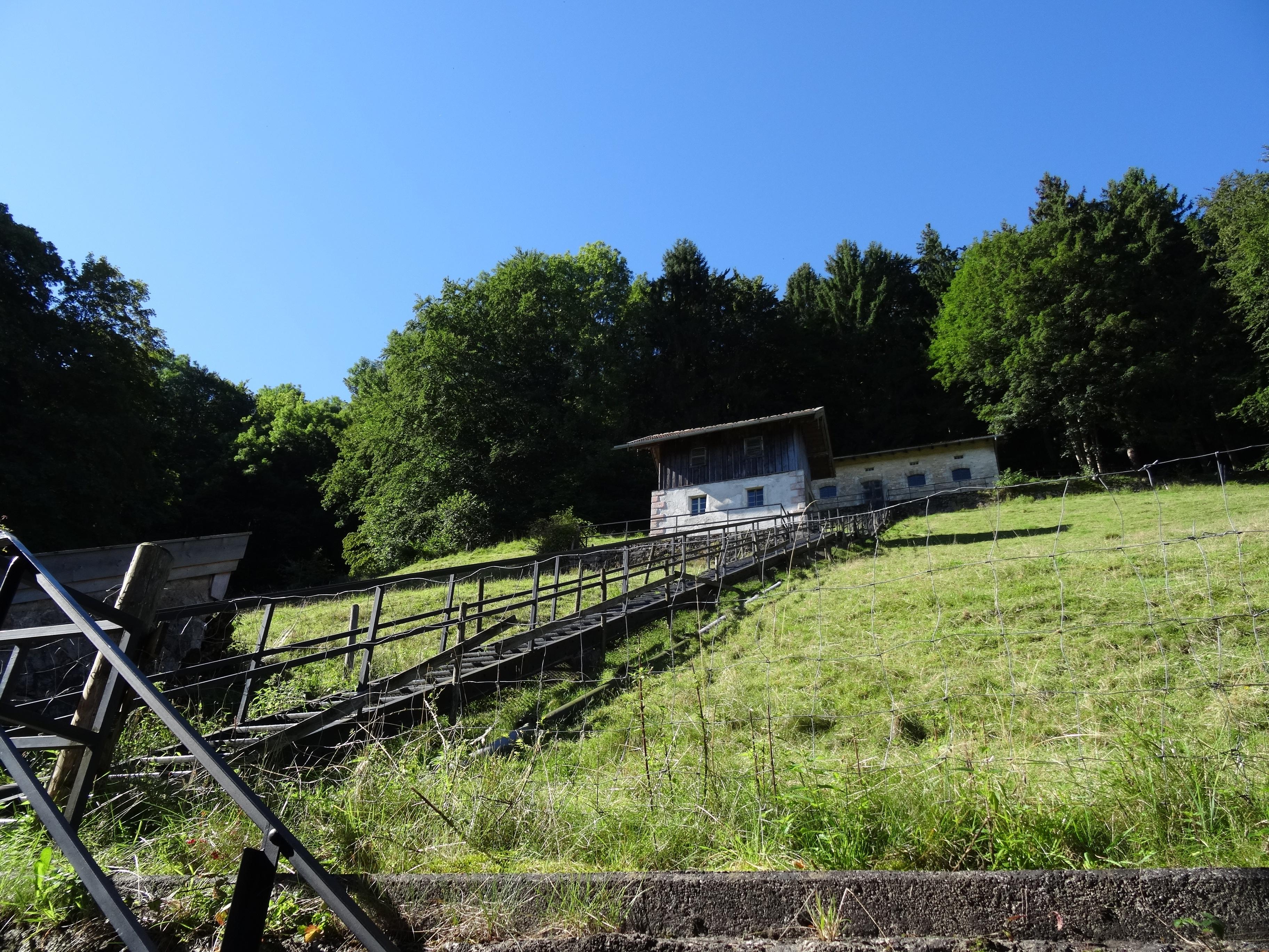 Treppe vom Museum zum Panoramaweg