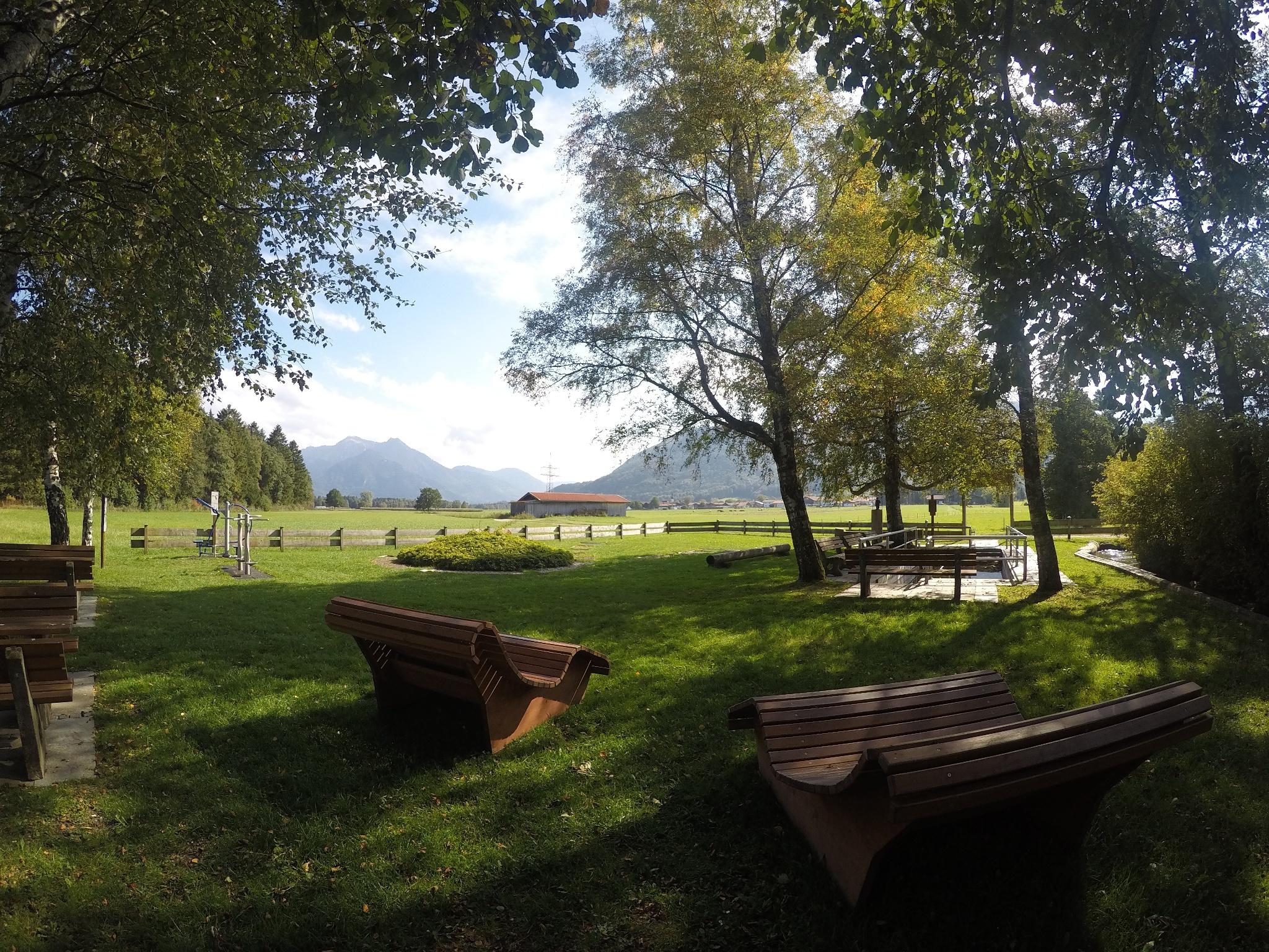 Entspannen am Kneippbecken