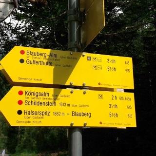 Über Gaißalm und Königsalm zur Gufferthütte