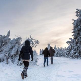 Winterwandern im Erzgebirge