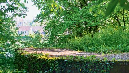 Fundamente der nördlichen Türme des Brückenkopfs