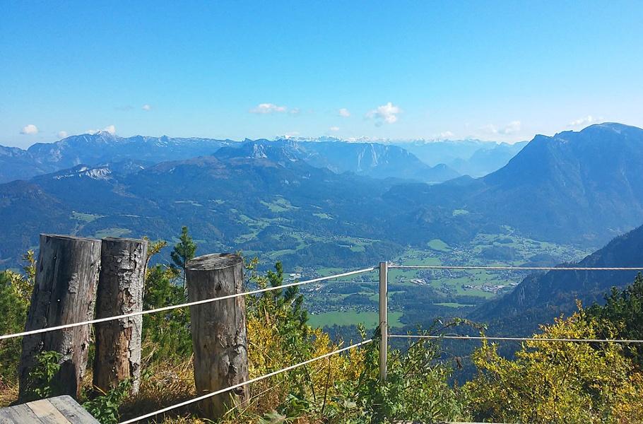 Blick von der Goisererhütte auf Bad Goisern