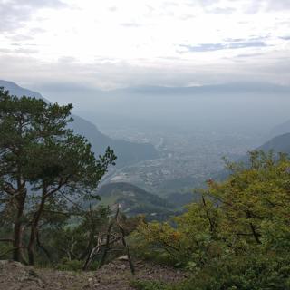 Panoramablick auf Südtirols Hauptstadt