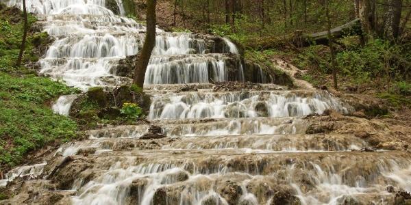 Vodopád Fátyol v údolí Szalajka