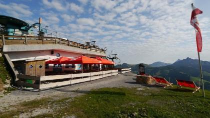 Die Bergstation der Wannenjochbahn
