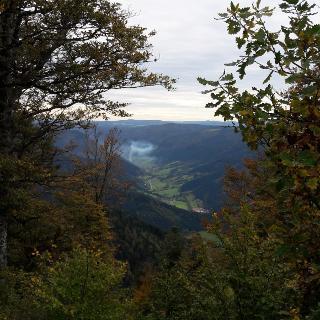 Blick vom Schultiskopf übr das Simonswälder Tal
