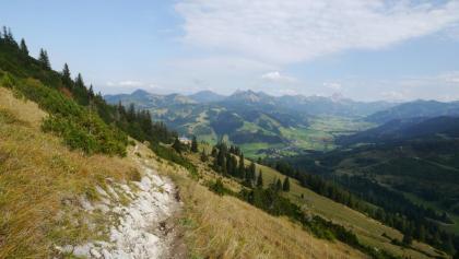 Blick auf das Tannheimer Tal und die markanten Tannheimer Gipfel