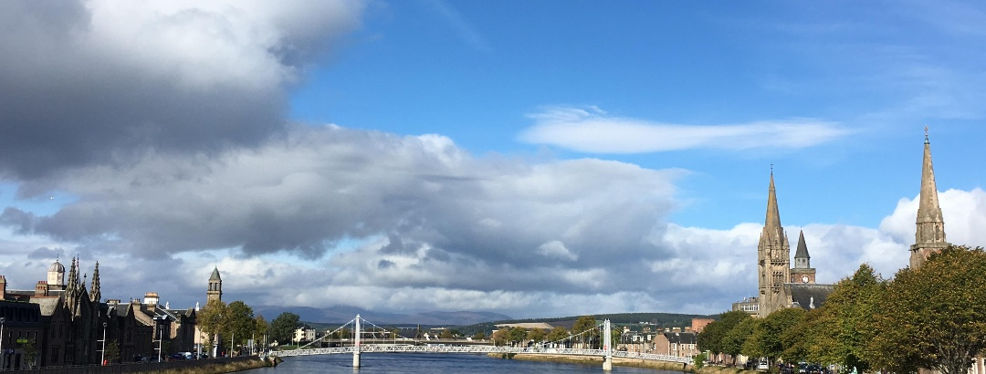 Inverness city centre (from Ness Bridge)