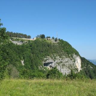Il dosso roccioso su cui si trova il Forte Belvedere Gschwent