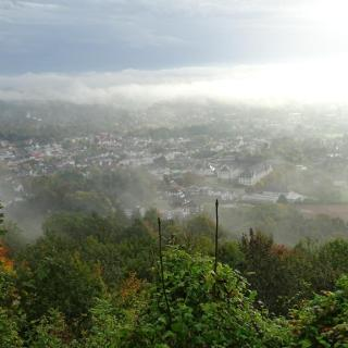 Blick von der Sachsenklause auf Bad Driburg